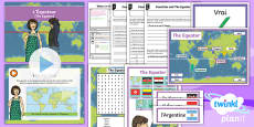 PlanIt - French Year 4 - Where in the World? Lesson 3: The Equator Lesson Pack