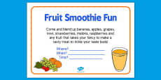 Elderly Care Hydration and Nutrition Week Fruit Smoothie Fun Poster