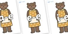 Modifying E Letters on Mummy Bear
