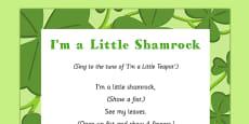 I'm a Little Shamrock Song
