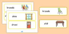 Classroom Furniture Labels Polish