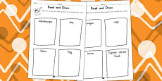 Australia - Aboriginal and Torres Strait Islander People Read and Draw Activity Sheet