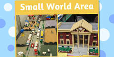 Small World Area Photo Sign