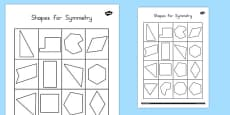 Shapes for Symmetry Activity Sheet