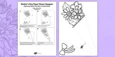 Mother's Day Paper Flower Bouquet Polish Translation