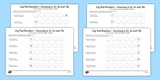 Lily Pad Counting in 2s, 5s and 10s Activity Sheet Polish Translation