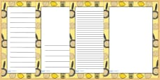 Pancake Day Page Borders
