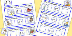 Before Cards Cut And Stick Activity