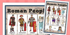 Roman People Vocabulary Mat