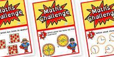 Year 1 Maths Challenge Cards Dyslexia