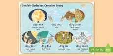 Jewish/Christian Creation Story Word Mat