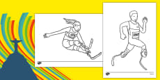 The Paralympic Events Athletics Colouring Sheets