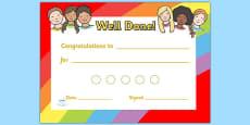 Ourselves Sticker Reward Certificate (15mm)