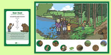 Bear Hunt Can you Find...? Poster and Prompt Card Pack to Support teaching on Bear Hunt