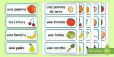 French Fruit and Vegetable Vocabulary Cards