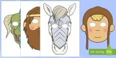 * NEW * Máscaras de juego de rol: San Jorge y el dragón