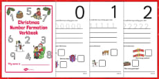 Christmas Number Formation Workbook (0-9)
