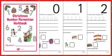 Christmas Number Formation Workbook (0-9)