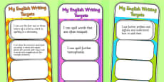 2014 Curriculum LKS2 Years 3 and 4 Writing Assessment Bookmarks and Cut Outs