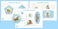 Beatrix Potter - The Story of Miss Moppet Cutting Skills Worksheet