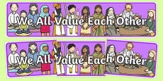 We All Value Each Other Display Banner