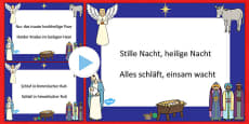 Silent Night Christmas Carol Lyrics PowerPoint German