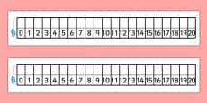 Editable Number Track 0-20