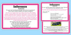 Guided Reading Skills Task Cards Inference Romanian Translation