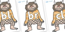 Initial Letter Blends on Wild Thing (1) to Support Teaching on Where the Wild Things Are