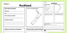 All About Auckland Writing Frame