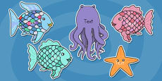 Editable Cut Outs to Support Teaching on Rainbow Fish
