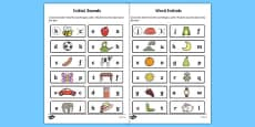 Initial Sounds Activity Sheet
