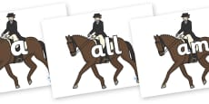 Foundation Stage 2 Keywords on Equestrian (Horses)