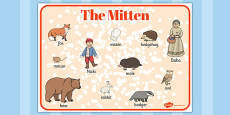 The Mitten Word Mat