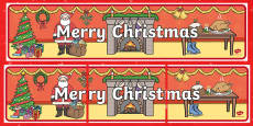 Merry Christmas Display Banner