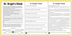 Saint Brigid's Cloak Story and Worksheets