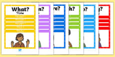 Question Words Poster Pack Arabic Translation