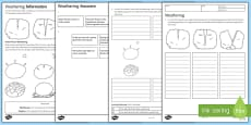 KS3 Weathering Homework Activity Sheet
