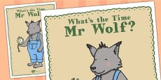 Large Display Poster to Support Teaching on What's The Time, Mr Wolf?