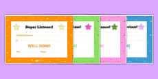 End of Term / Term time Award Certificates