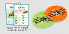 Paper Plate Spider Web With Handprint Spider Craft Instructions