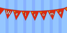 Chinese Flag Welcome Display Bunting