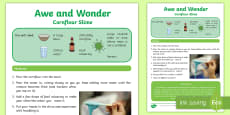 Cornflour Slime Awe and Wonder Science Activity Sheet