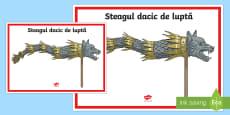 Steagul dacic de luptă Planșă