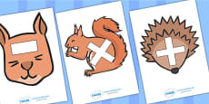 Maths Symbols on Woodland Animals