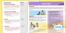 PlanIt - History UKS2 - Ancient Egypt Planning Overview