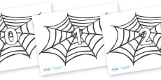 Numbers 0-31 on Spiders Web