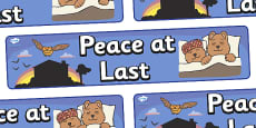 Peace at Last Display Banner