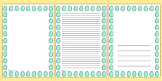 Spotty Easter Egg Portrait Page Borders