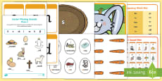 * NEW * Easter Themed Phase 2 Phonics Resource Pack